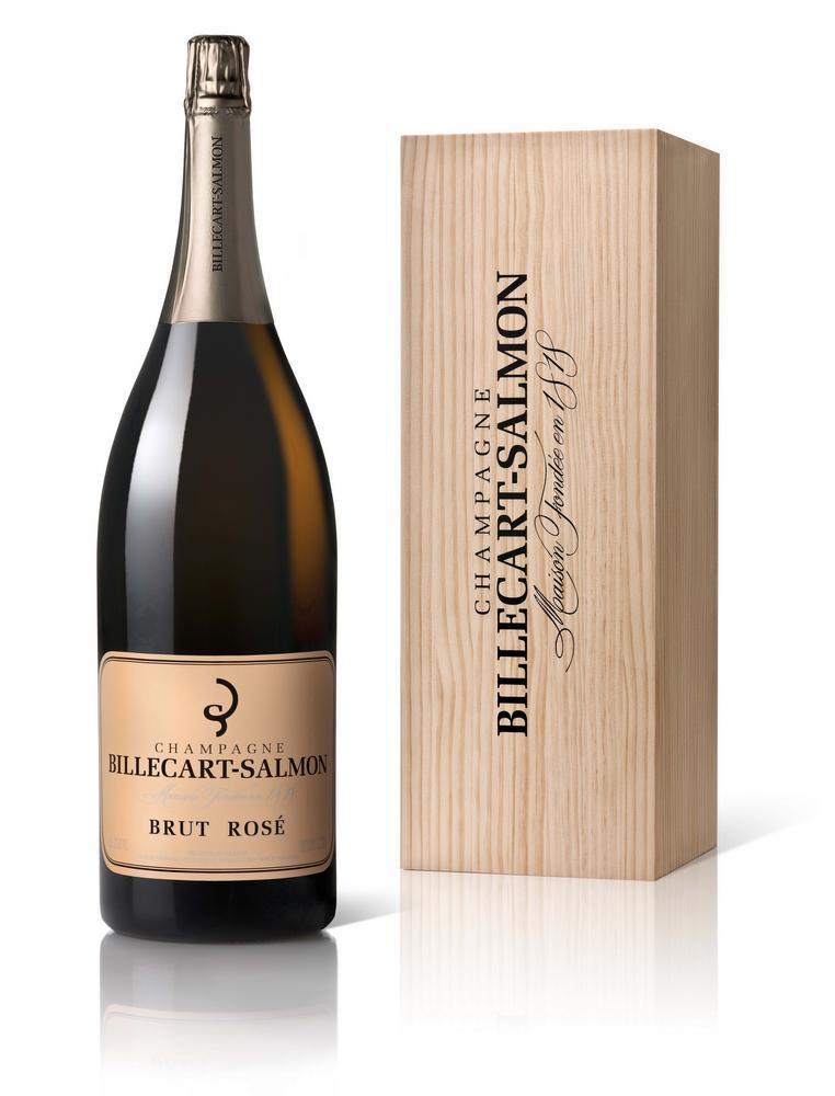 Шампанское Billecart-Salmon Brut Rose в большой бутылке шампанское Билькар Сальмон Брют Розе большая бутылка 3 л.