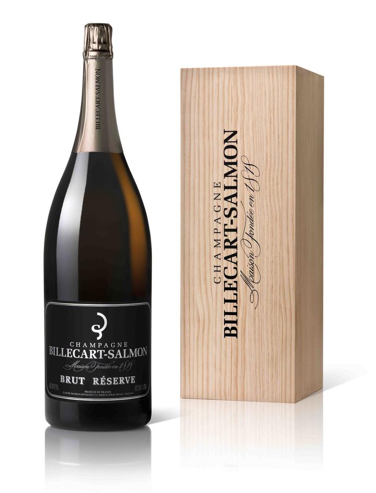 Шампанское Billecart-Salmon Brut Reserve в большой бутылке шампанское Билькар Сальмон Брют Резерв большая бутылка 3 л.