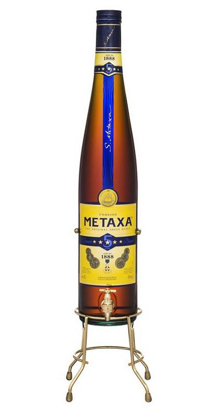 Бренди Metaxa 5 stars в большой бутылке Бренди Метакса 5 звезд 3 л.