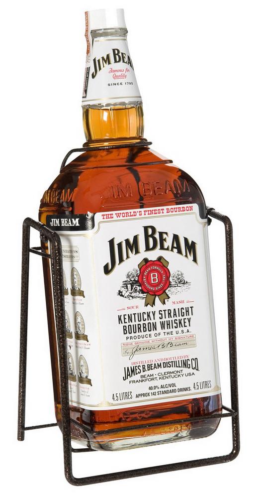 Виски Jim Beam на качелях большая бутылка виски Джим Бим 3 л.