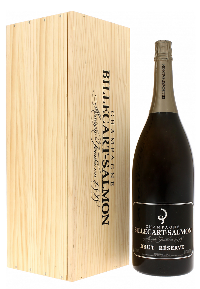 Шампанское Billecart-Salmon Brut Reserve в большой бутылке шампанское Билькар Сальмон Брют Резерв большая бутылка 6 л.